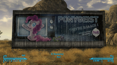Screenshot of ponygeist bilboard