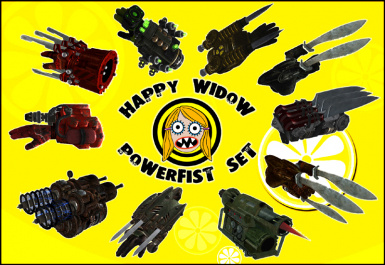 Happy widow powerfist set