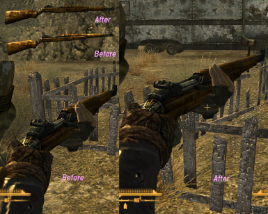 This Machine mesh and iron sight fix at Fallout New Vegas