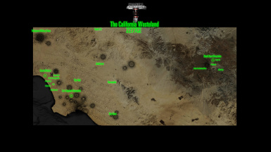 California Wasteland Concept Art Map