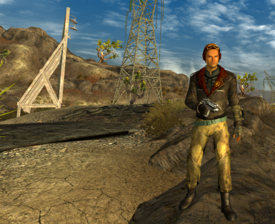 outfit is from Enclave Flight Jacket mod - not included
