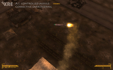 AI Controlled Missile - Corrective Oversteering
