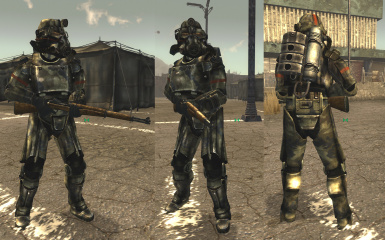 None Faction Salvaged T-45d Power Armor