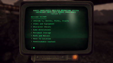 Fallout NV Cheat Terminal Redux
