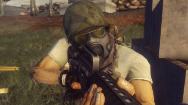 M17 Gas Mask in action