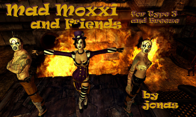 Mad Moxxi and Friends Cyberpunk Outfits for Type 3 and Breeze
