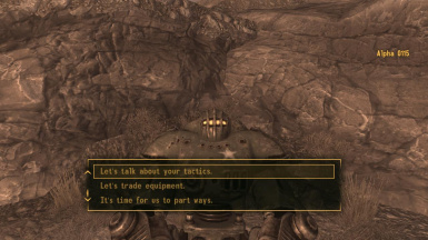 Alpha 0115 Sentry bot companion at Fallout New Vegas mods and