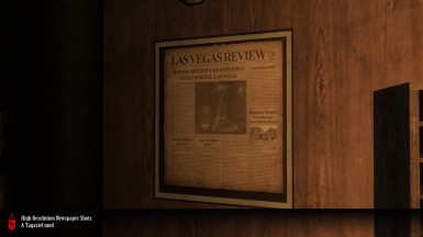 Newspaper case in-game