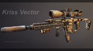 Kriss fully moded Camo pattern - Marmoset Render