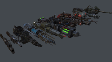 All Weapons - Marmoset Toolbag Render