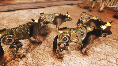 Camouflage Textures for Military Robodog in game 01