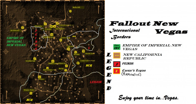 International borders between The Empire NCR Legion and Feinds