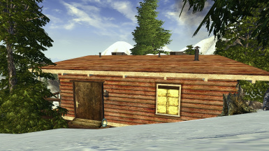 Snow Cabin Redecorated