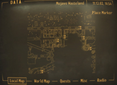 No player marker or cursor on maps at Fallout New Vegas ...