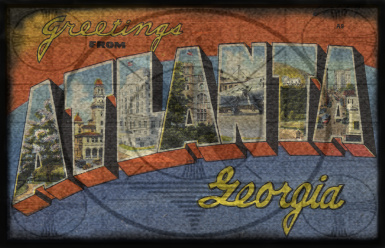 Fallout Atlanta post card