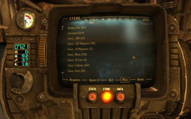 Pip-Boy Counters For Rads And Hardcore Needs