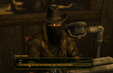 New Vegas Bounties I - Steven Randall Dialogue Restoration