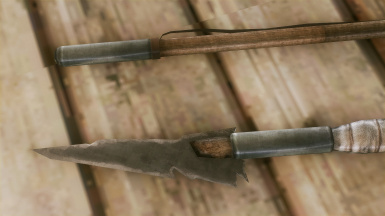 Throwing melee weapon retexture