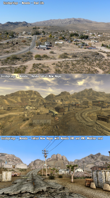 Nevada ENB   rality   vanilla comparison