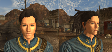 Dread Ponytail On My BAMF Test Character no enb