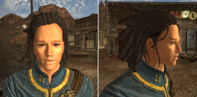 Short Dreads- His name is Mr Clean because he was a clean install test