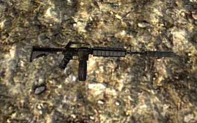 Assault Carbine with Supressor and Drum Mag