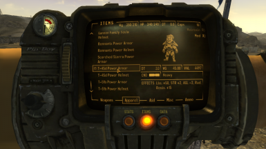 Power Armor Stat Changes-Fallout New Vegas