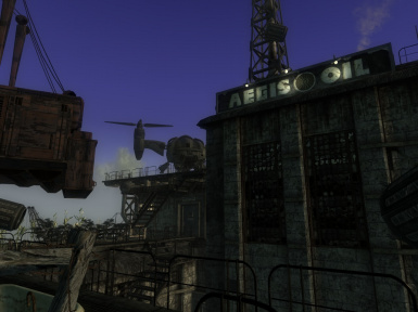 how to use stairs in the oil rig fallout