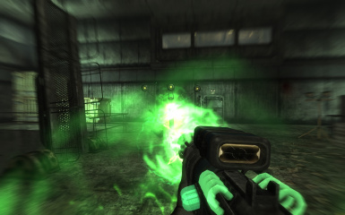 Frying robots with the Particle Beam Rifle
