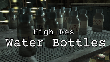 High Res Vanilla Water Bottle Textures and Meshes