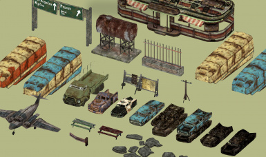 Some of the LOD assets.