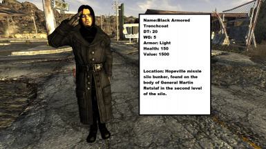 Black US Army General's Outfit Retexture - Lonesome Road