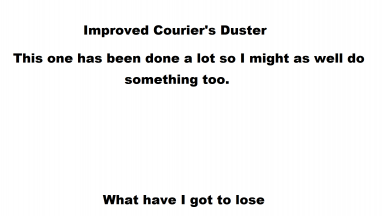 So your duster doesn't gather dust