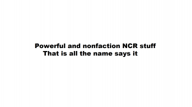 Nonfaction and Buffed NCR Armors
