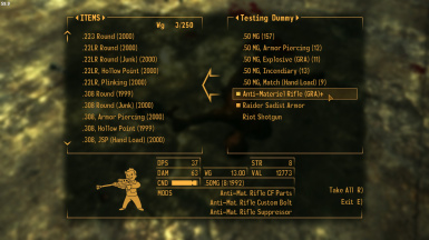 NAWEMO - NPCs use Ammo Variants and Weapon Mods