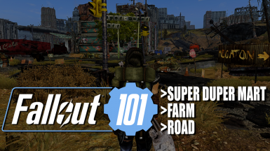 Fallout 101 TTW - Super Duper Mart Road and Farm