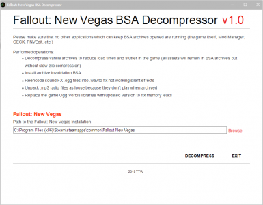 FNV BSA Decompressor