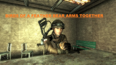 Birds of a Feather Bear Arms Together - Van Graff Energy Weapons for the NCR - The Living Desert III
