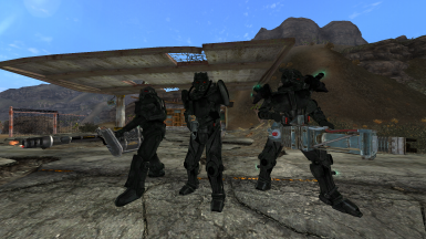 id2301's Enclave Power Armors recolored (New Vegas edition)