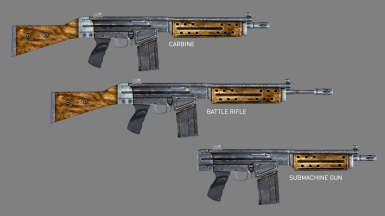 Three Variants - Carbine, Battle Rifle and SMG
