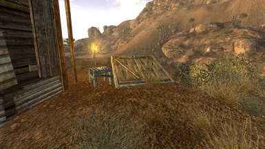 Entrance next to Victor's Shack in Goodsprings
