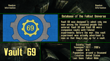 Database of the Fallout Universe at Fallout New Vegas - mods