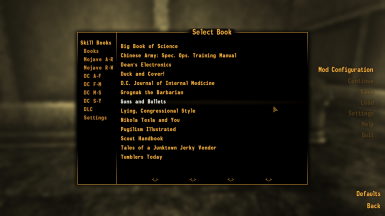 Skill Book Checklist at Fallout New Vegas - mods and community
