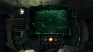 Pipboy Screen Cracked - FNV Edition