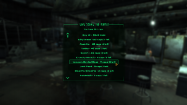 An example of how vending menu would look like on NPC.