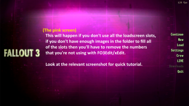 Pink screen caused by missing image