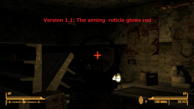 Version 1.1:  Glowing aiming reticle