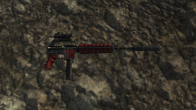 Red 9mm Suppressed Rifle