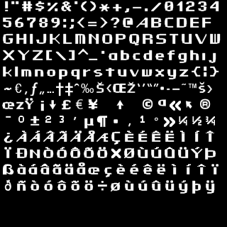 Edited Classic Font (Blocky Accents)
