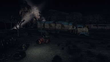 Mojave Outpost night